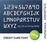 font for credit cards | Shutterstock .eps vector #1090397672