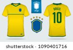 set of soccer jersey or... | Shutterstock .eps vector #1090401716