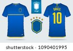 set of soccer jersey or... | Shutterstock .eps vector #1090401995