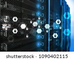 cyber security  data protection ... | Shutterstock . vector #1090402115
