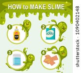 how to make slime. vector... | Shutterstock .eps vector #1090402148