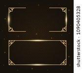 gold fashion light sparkling ... | Shutterstock .eps vector #1090405328