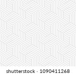 seamless pattern with geometric ... | Shutterstock .eps vector #1090411268