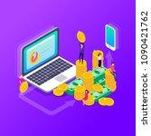 vector illustration of money ... | Shutterstock .eps vector #1090421762
