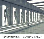 3d render. cloning humanoid... | Shutterstock . vector #1090424762