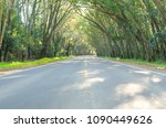 beautiful road with natural... | Shutterstock . vector #1090449626