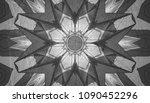 white and black kaleidoscope...   Shutterstock . vector #1090452296