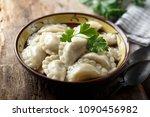 traditional homemade dumplings | Shutterstock . vector #1090456982