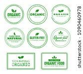 organic  100  natural  farm... | Shutterstock .eps vector #1090460978