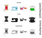 thread reel  sewing machine ... | Shutterstock .eps vector #1090462445