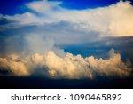 blue sky with cloud | Shutterstock . vector #1090465892