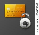 credit card safe combination... | Shutterstock .eps vector #1090479002