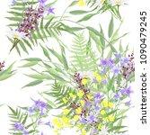 seamless watercolor pattern... | Shutterstock .eps vector #1090479245