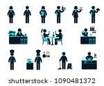 restaurants staff icons set | Shutterstock .eps vector #1090481372