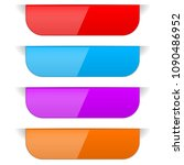 colored sticker labels with... | Shutterstock .eps vector #1090486952