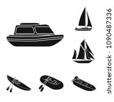 water and sea transport black...   Shutterstock .eps vector #1090487336