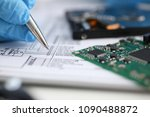 the male hand of the repairman... | Shutterstock . vector #1090488872