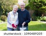 portrait of senior couple... | Shutterstock . vector #1090489205