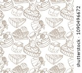seamless pattern with delicious ...   Shutterstock .eps vector #1090496672