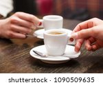 closeup of two people holding... | Shutterstock . vector #1090509635
