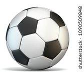 football  soccer ball 3d... | Shutterstock . vector #1090509848