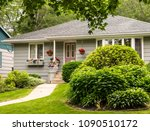 old style bungalow from the 60s ...   Shutterstock . vector #1090510172