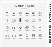 smart phone ui icon collection...