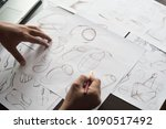production designer sketching... | Shutterstock . vector #1090517492