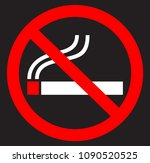 no smoking cigarette icon with... | Shutterstock .eps vector #1090520525