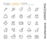 collection of cooking thin line ... | Shutterstock .eps vector #1090522952