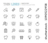 collection of dentistry thin... | Shutterstock .eps vector #1090522958
