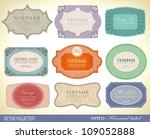 vintage labels collection   ... | Shutterstock .eps vector #109052888