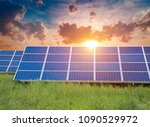 solar panel  photovoltaic ... | Shutterstock . vector #1090529972