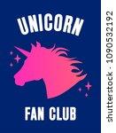 unicorn fan club cute card... | Shutterstock .eps vector #1090532192
