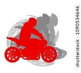 motorcycle freestyle driver... | Shutterstock .eps vector #1090534646