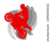motorcycle freestyle driver... | Shutterstock .eps vector #1090534652