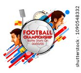 illustration of russia football ... | Shutterstock .eps vector #1090548332