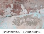 Old Chipped Plaster On The...