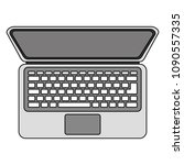 laptop computer isolated icon | Shutterstock .eps vector #1090557335