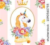 romantic seamless fairy tale... | Shutterstock . vector #1090560755