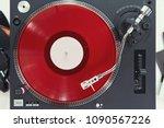 turntable vinyl record player...   Shutterstock . vector #1090567226