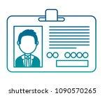 corporate id card employee photo | Shutterstock .eps vector #1090570265