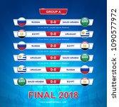 soccer 2018 championship... | Shutterstock .eps vector #1090577972
