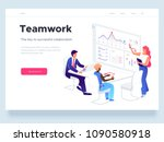 people work in a team and... | Shutterstock .eps vector #1090580918