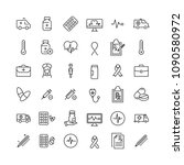 set of health thin line icons.... | Shutterstock .eps vector #1090580972