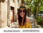 woman portrait   happy young... | Shutterstock . vector #1090585052