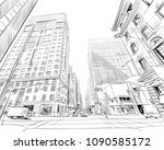 ottawa. canada. hand drawn.... | Shutterstock .eps vector #1090585172