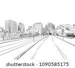 ottawa. canada. hand drawn.... | Shutterstock .eps vector #1090585175
