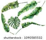 watercolor set with juicy... | Shutterstock . vector #1090585532