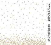 raw realistic vector rice... | Shutterstock .eps vector #1090587122